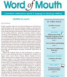 Word of Mouth Cover Page
