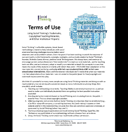 Cover of Terms of Use Document
