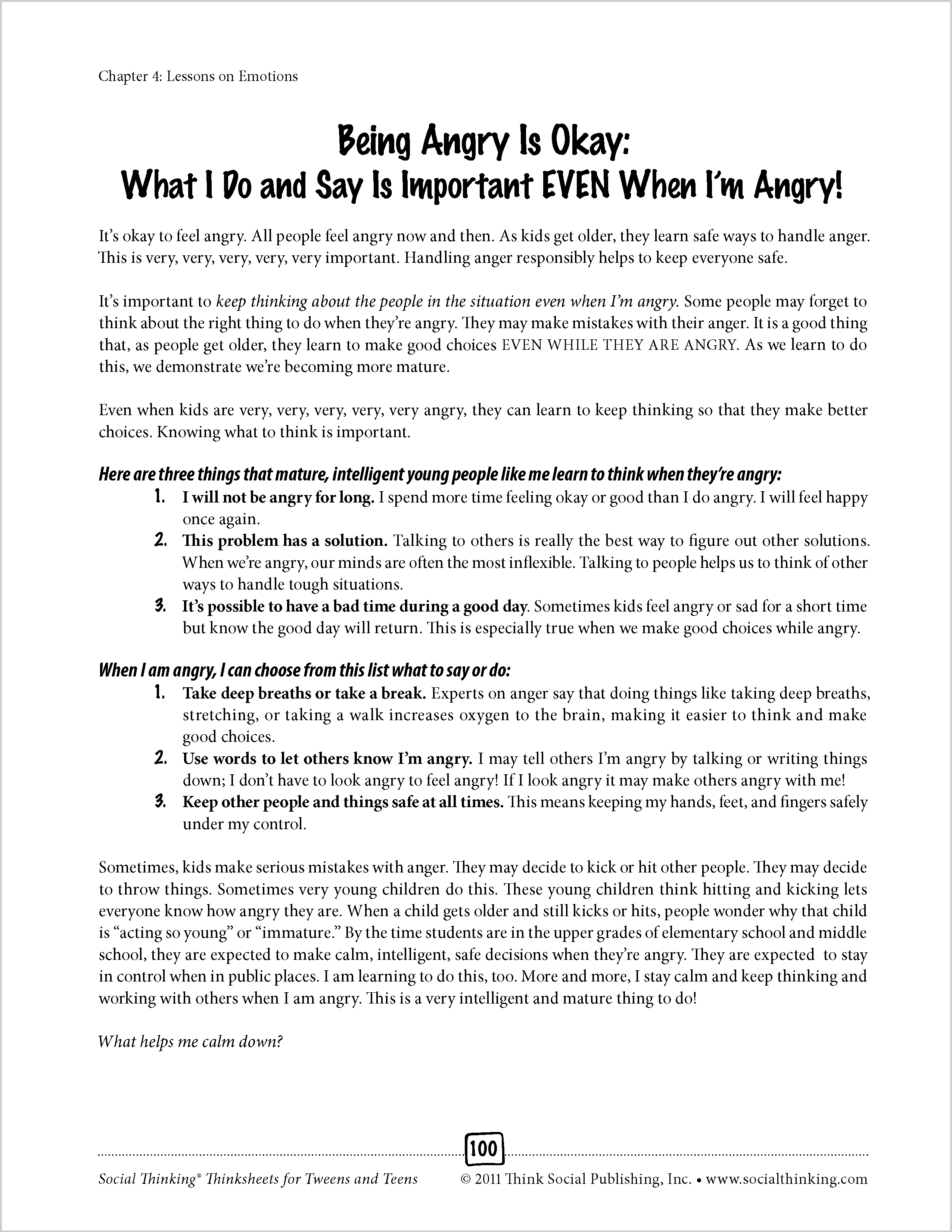 Printables Social Thinking Worksheets socialthinking social thinking thinksheets for tweens and teens click here to see table of contents one our more popular books worksheets