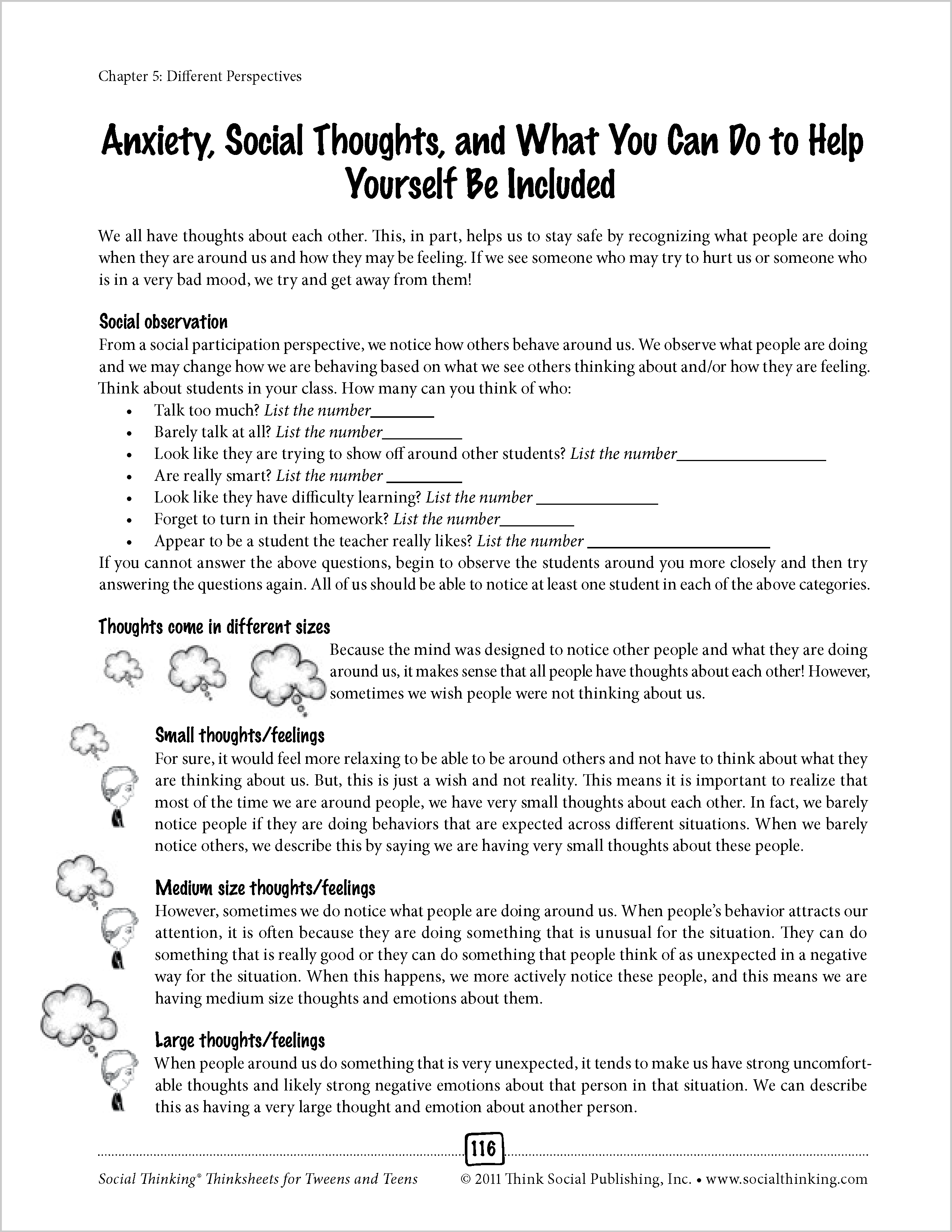 Social Anxiety Worksheets Free - Proga | Info