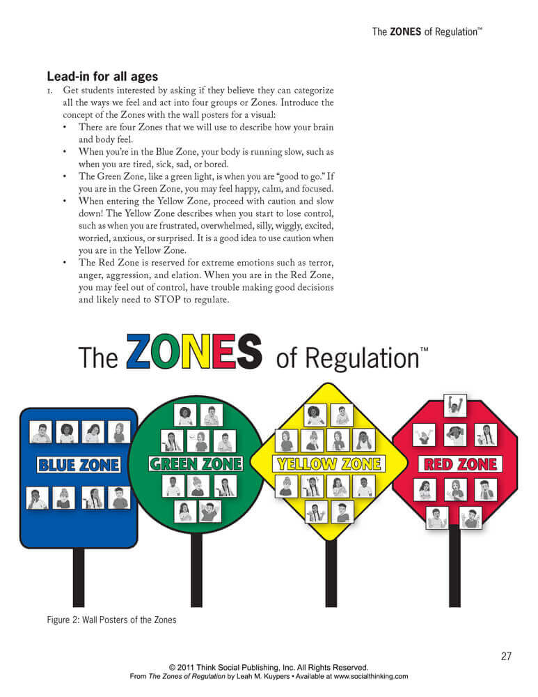 graphic about Zones of Regulation Printable identify Socialthinking - The Zones of Legislation: A Curriculum