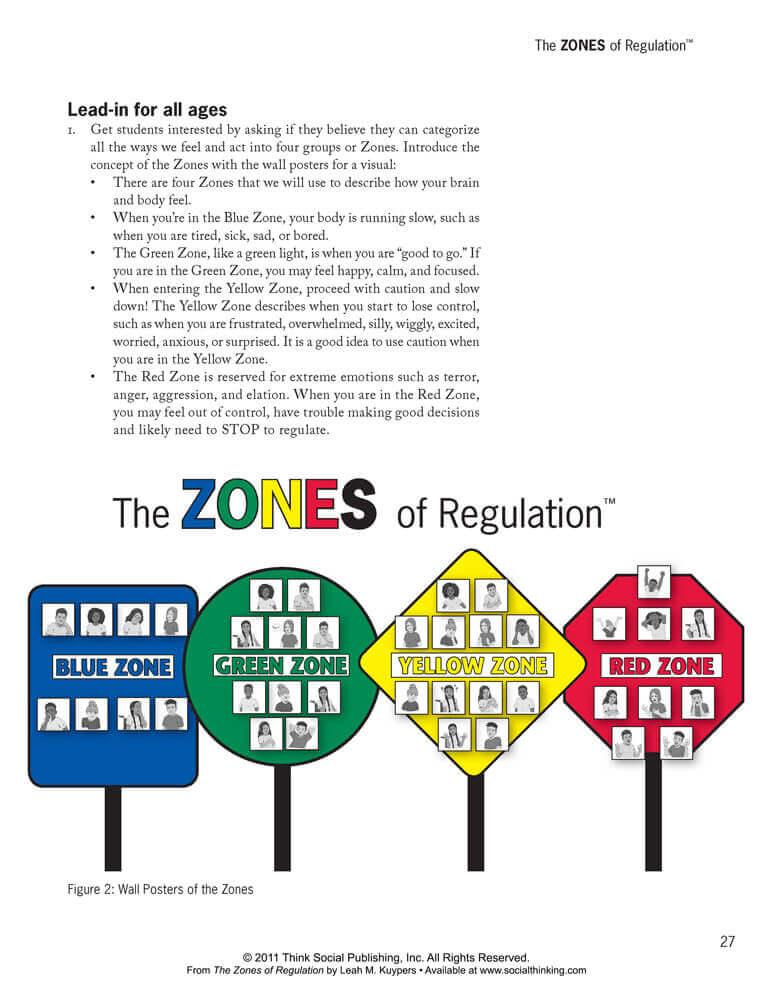 photo relating to Zones of Regulation Printable identify Socialthinking - The Zones of Legislation: A Curriculum