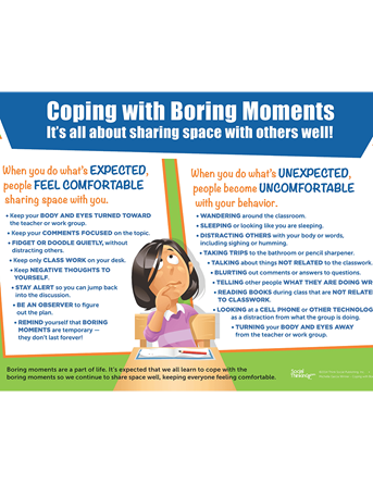 Coping with Boring Moments Poster