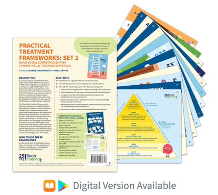 Social Thinking® Frameworks Collection | Practical Treatment Frameworks Set 2: Build Social Competencies with 13 More Visual Teaching Scaffolds