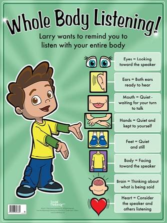 Whole Body Listening Larry Poster